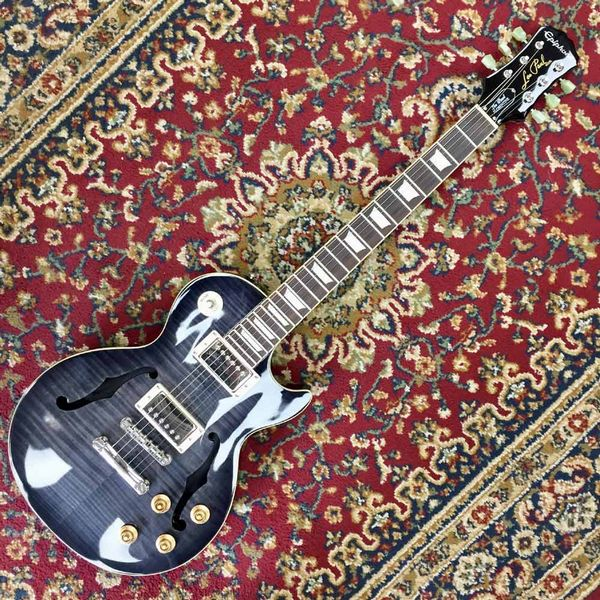 Epiphone Limited Edition Les Paul Standard Florentine Pro Trans Black (Pre-Owned)